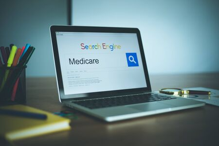 medicare: Search Engine Concept: Searching MEDICARE on Internet