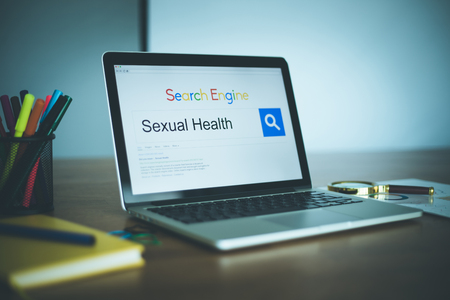 Search Engine Concept: Searching SEXUAL HEALTH on Internet