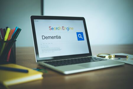 brain aging: Search Engine Concept: Searching DEMENTIA on Internet