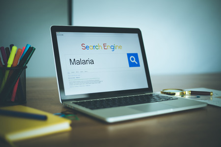 malaria: Search Engine Concept: Searching MALARIA on Internet Stock Photo