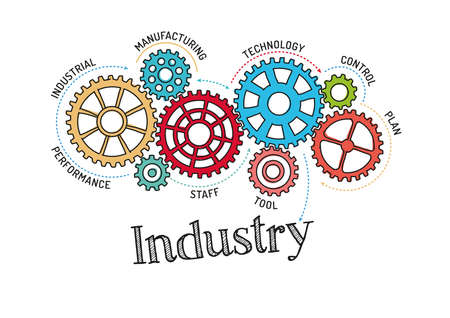 industry: Gears and Industry Mechanism Illustration