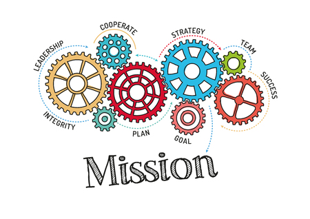 Gears and Mission Mechanism Illustration