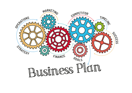 Plan de Gears and Business Mécanisme Vecteurs