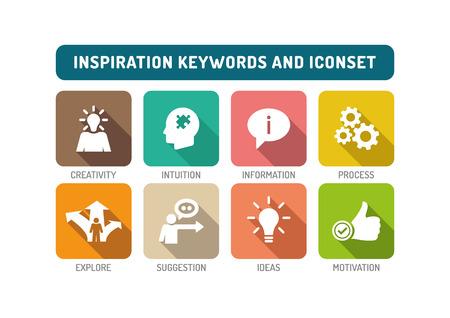 inspiration: Inspiration Flat Icon Set Illustration