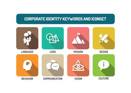 Corporate Identity Flat Icon Set Vector Illustratie