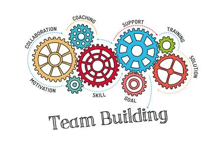 Gears und Team-Building-Mechanismus