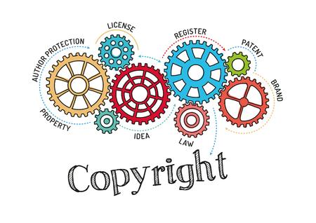 Gears et le droit d'auteur Mécanisme Vecteurs