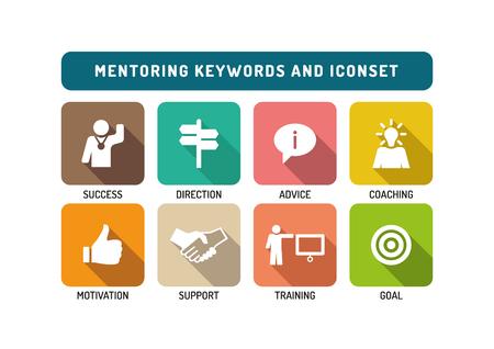 Mentoring Flat Icon Set