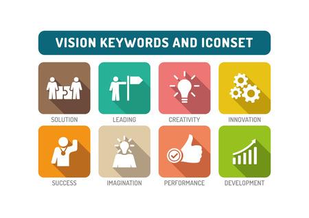 Vision Flat Icon Set
