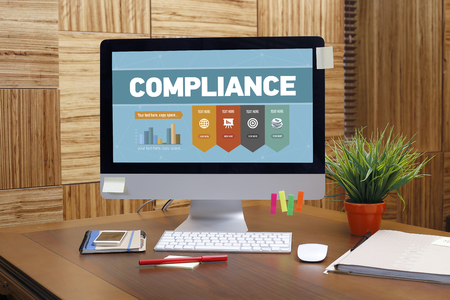 categorized: Compliance word on screen Stock Photo
