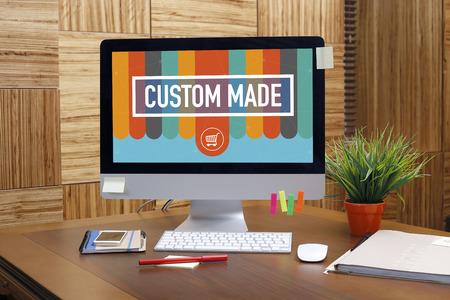 custom made: CUSTOM MADE text on screen