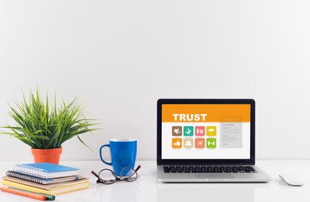 liable: Business desk concept - Trust