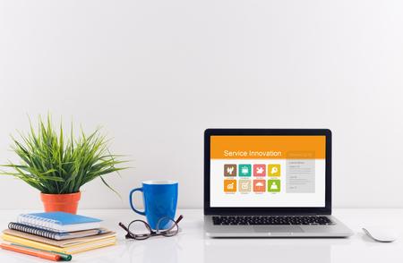 service desk: Business desk concept - Service Innovation