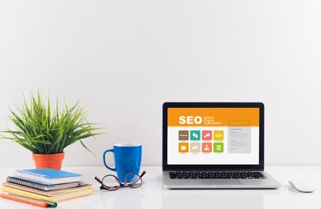 Business desk concept - SEO