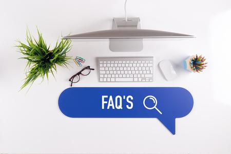 FAQ'S Search Find Web Online Technology Internet Website Concept