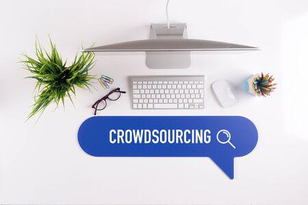 crowdsourcing: CROWDSOURCING Search Find Web Online Technology Internet Website Concept