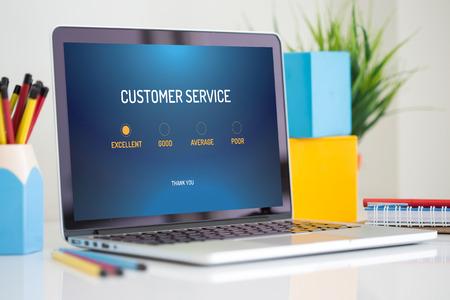 Customer service survey form app on a screen