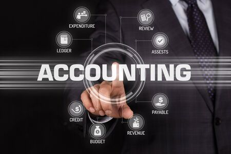 ACCOUNTING TECHNOLOGY COMMUNICATION TOUCHSCREEN FUTURISTIC CONCEPT