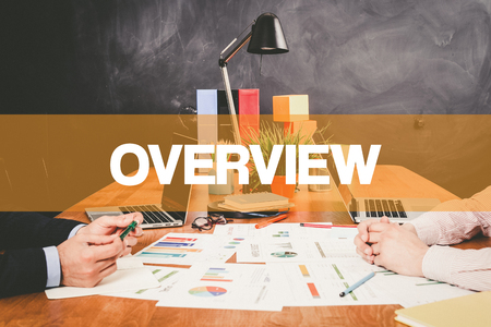 an overview: Two Businessman Overview working in an office