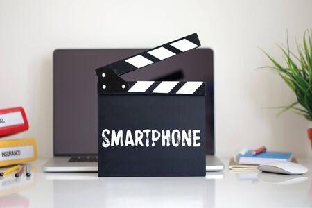 clapper: Cinema Clapper with Smartphone word