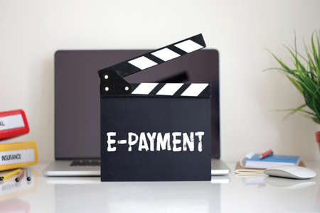 epayment: Cinema Clapper with E-Payment word
