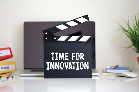 innovation word: Cinema Clapper with Time For Innovation word