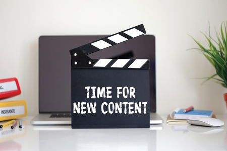 keywords link: Cinema Clapper with Time For New Content word