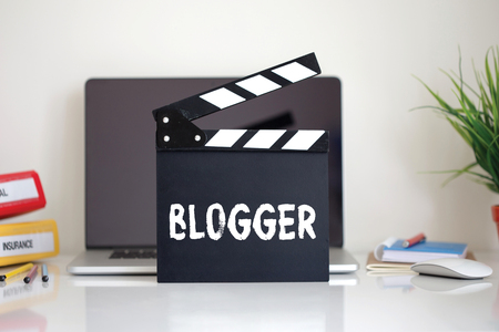 clapper: Cinema Clapper with Blogger word