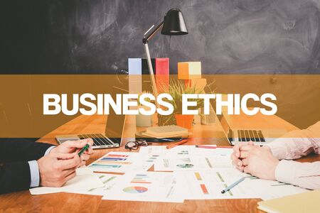working ethic: Two Businessman Business Ethics working in an office