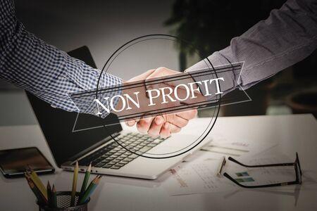 non: BUSINESS AGREEMENT PARTNERSHIP Non Profit COMMUNICATION CONCEPT Stock Photo