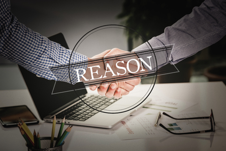 reason: BUSINESS AGREEMENT PARTNERSHIP Reason COMMUNICATION CONCEPT Stock Photo