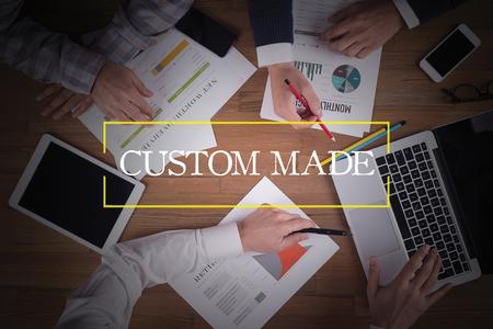 custom made: BUSINESS TEAM WORKING OFFICE  Custom Made TEAMWORK BRAINSTORMING CONCEPT Stock Photo
