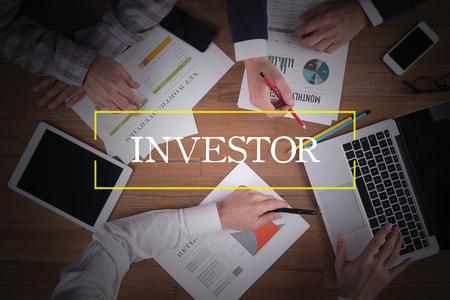 ビジネス チーム オフィス投資家チームワーク ブレーンストーミング コンセプト