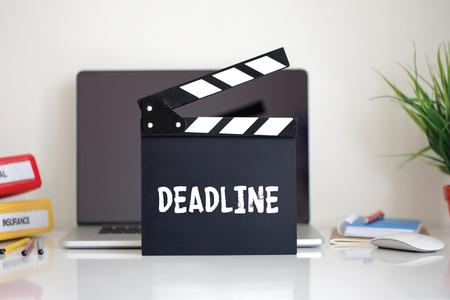 clapper: Cinema Clapper with Deadline word