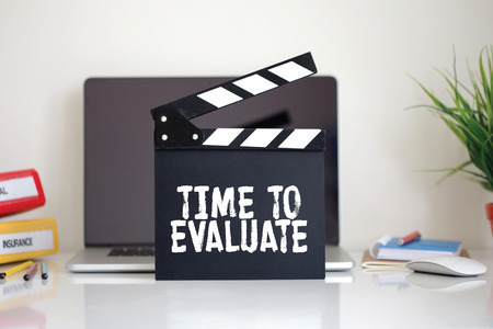reevaluation: Cinema Clapper with Time To Evaluate word