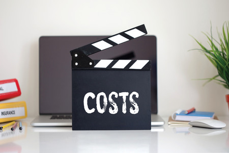 clapper: Cinema Clapper with Costs word