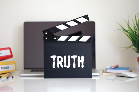 truth: Cinema Clapper with Truth word