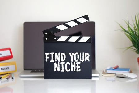 specialize: Cinema Clapper with Find Your Niche word