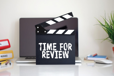 reassessment: Cinema Clapper with Time For Review word