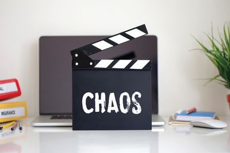chaos: Cinema Clapper with Chaos word