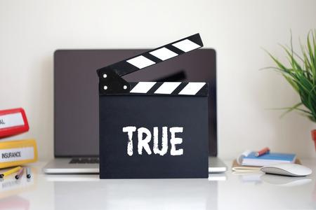 clapper: Cinema Clapper with True word