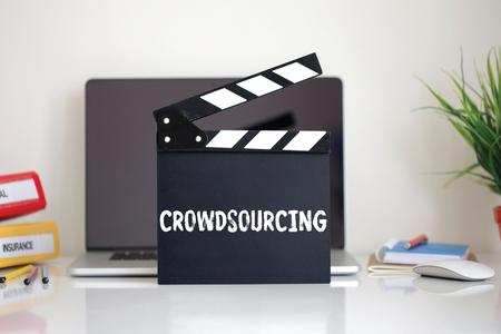 crowdsourcing: Cinema Clapper with Crowdsourcing word