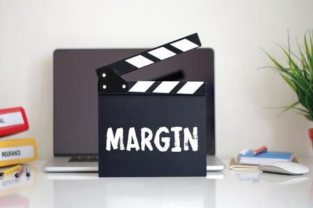 clapper: Cinema Clapper with Margin word Stock Photo
