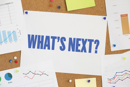 what's ahead: CHART BUSINESS GRAPH RESULT COMPANY WHATS NEXT? CONCEPT Stock Photo