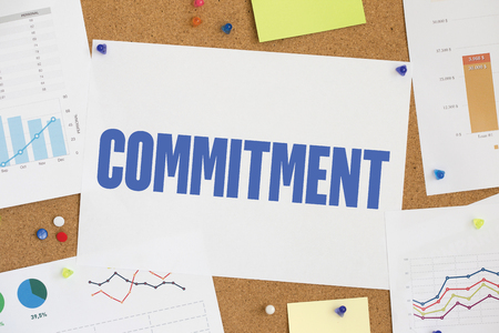 obligate: CHART BUSINESS GRAPH RESULT COMPANY COMMITMENT CONCEPT Stock Photo