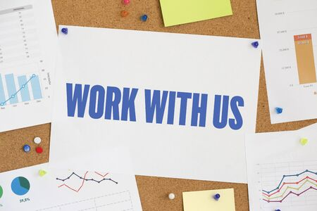 new recruit: CHART BUSINESS GRAPH RESULT COMPANY WORK WITH US CONCEPT Stock Photo