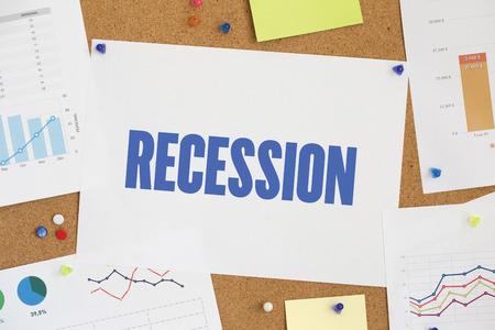 recession: CHART BUSINESS GRAPH RESULT COMPANY RECESSION CONCEPT