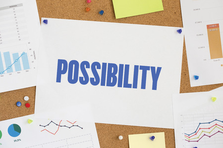 possibility: CHART BUSINESS GRAPH RESULT COMPANY POSSIBILITY CONCEPT Stock Photo