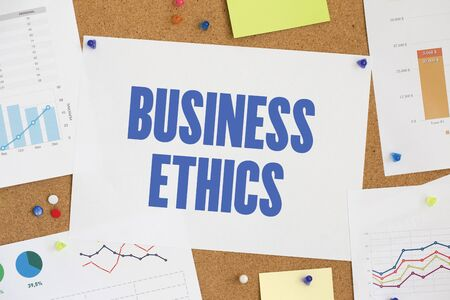 morality: CHART BUSINESS GRAPH RESULT COMPANY BUSINESS ETHICS CONCEPT Stock Photo