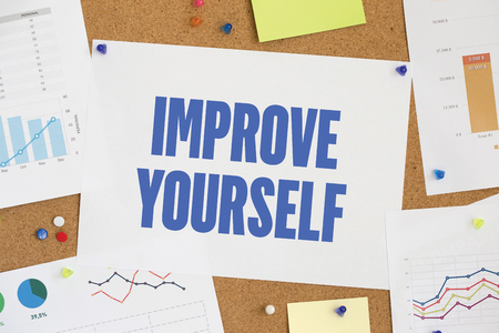 enrich: CHART BUSINESS GRAPH RESULT COMPANY IMPROVE YOURSELF CONCEPT Stock Photo